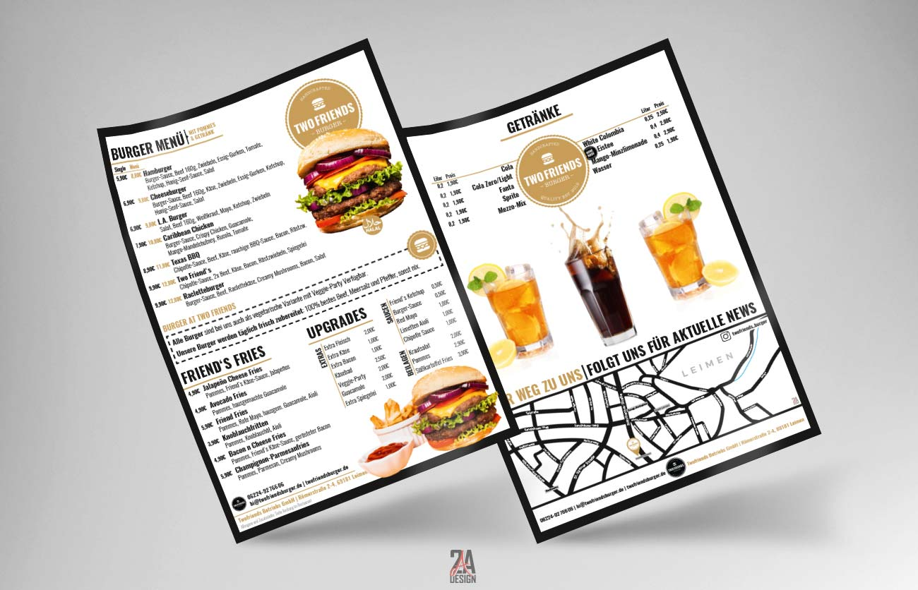 Flyer - Two Friends Burger